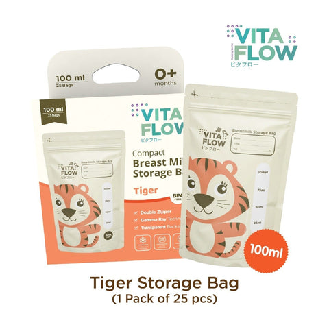 Image of Tiger Compact Breastmilk Storage Bags 100ml