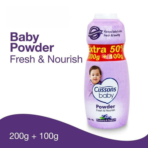 Image of Cussons Baby Powder 200g extra 100g fresh and nourish