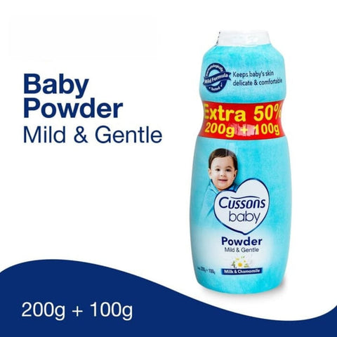 Image of Cussons Baby Powder 200g extra 100g mild and gentle