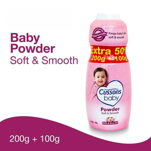 Cussons Baby Powder 200g extra 100g soft and smooth