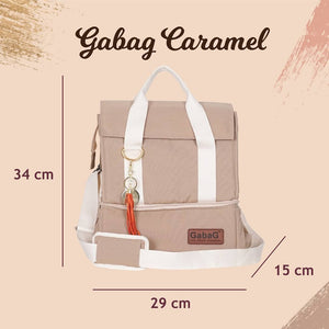 Gabag Caramel Insulated Cooler Bag with Two Compartment