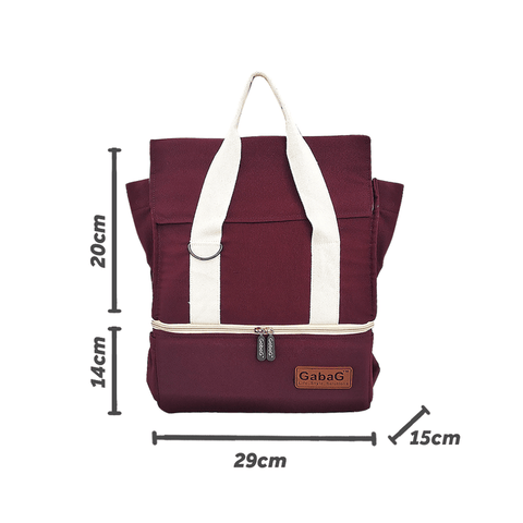 Image of Gabag Rose Cooler Bag Dimension