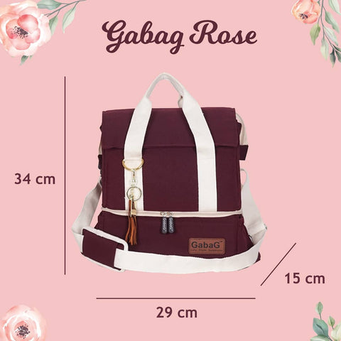 Gabag Rose Cooler Bag Dimension