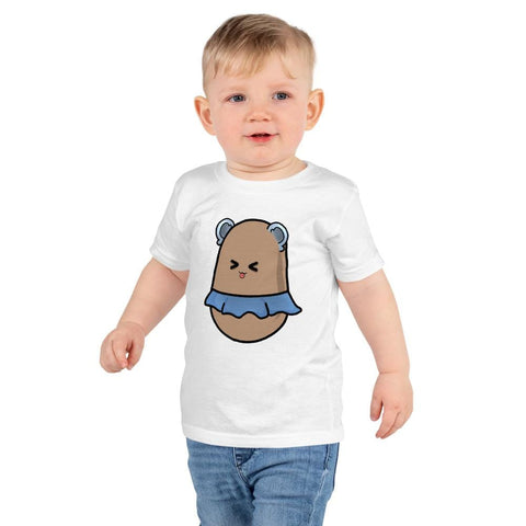 Potato Kids T-Shirt 2-6 Years  (White, Black, Grey, Navy and Red)