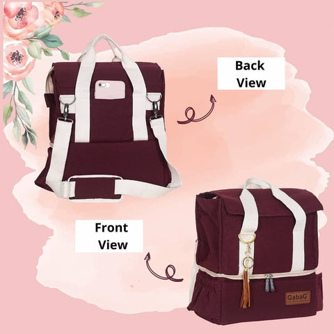 Two side of Gabag Rose Cooler Bag