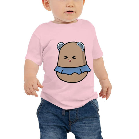 Potato Berry Baby T-Shirt 6-24 Months (White, Pink and Black)