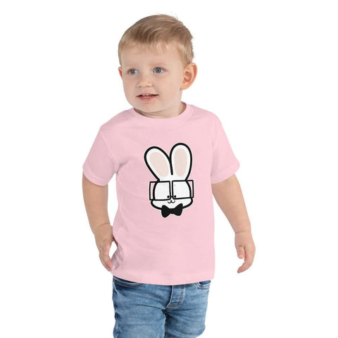 Image of Bunny Toddler T-Shirt 2-5 Years (White, Black and Pink)