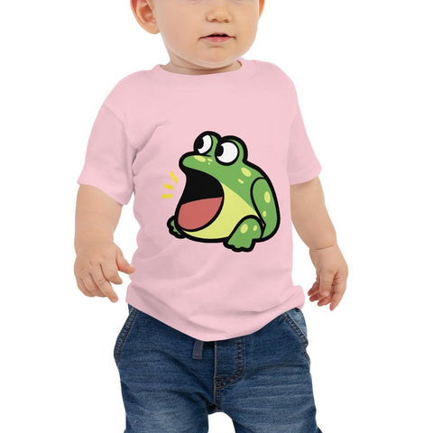 Frog Baby T-Shirt 6-24 Months (White, Pink and Black)