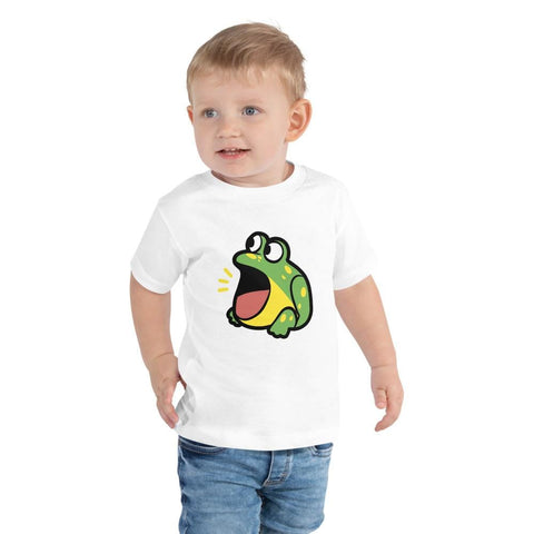 Image of Frog Toddler T-Shirt 2-5 Years (White, Black and Pink)