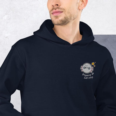 Property Of Lotl Corp Embroidery Unisex Hoodie (Black, Navy)
