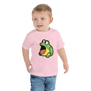 Frog Toddler T-Shirt 2-5 Years (White, Black and Pink)