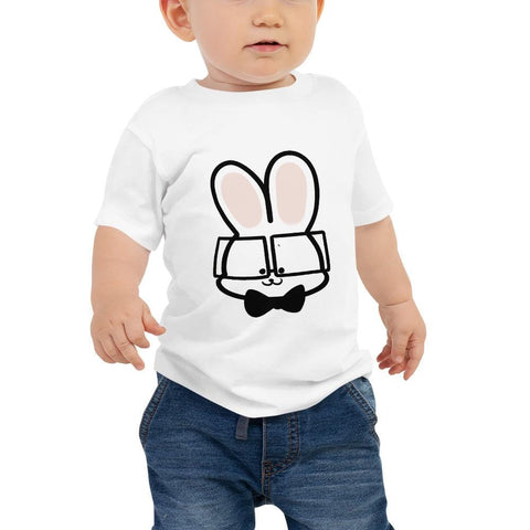 Bunny Baby T-Shirt 6-24 Months (White, Pink and Black)