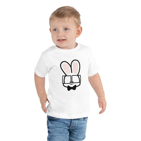 Bunny Toddler T-Shirt 2-5 Years (White, Black and Pink)