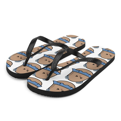 Image of Potato Berry Pattern Flip-Flops