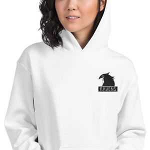 Ravens Embroidery Unisex Hoodie (White, Light Blue, Pink)