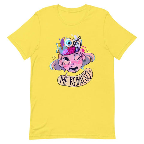 Image of Cherri's Expression Unisex T-Shirt (Ice Blue, Yellow & Pink)