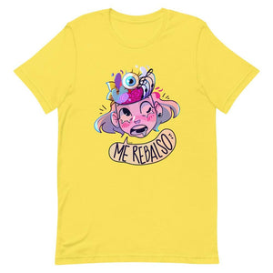 Cherri's Expression Unisex T-Shirt (Ice Blue, Yellow & Pink)