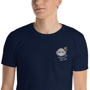 Property Of Lotl Corp Embroidery Unisex T-Shirt (Black, Navy)