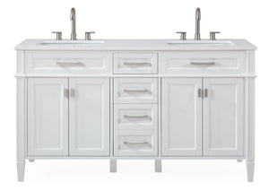 Tennant Brand Durand Modern Navy Blue Double Sink Bathroom Vanity - GD-1808-D60W-QT