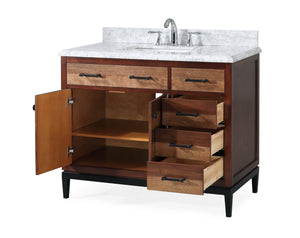 "42""  Tenant Brand Urban Modern Eclectic Selva Sink bathroom vanity with metal base  - TB-9555-V42"