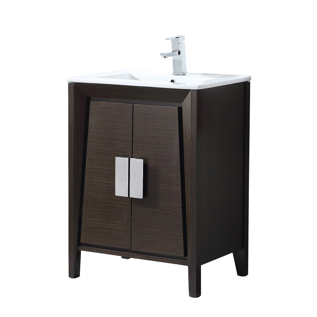 "24"" Larvotto Ebony Contemporary Modern Bathroom Vanity CL-22EB24-ZI"