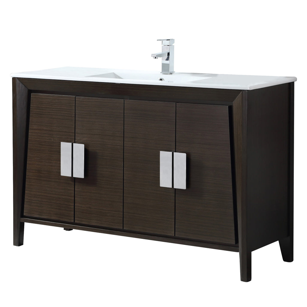 "48"" Larvotto Ebony Contemporary Bathroom Sink Vanity CL-22EB47-ZI"