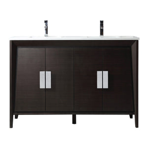 "60"" Larvotto Ebony Contemporary Double Sink Bathroom Vanity CL-22EB60-QZ"