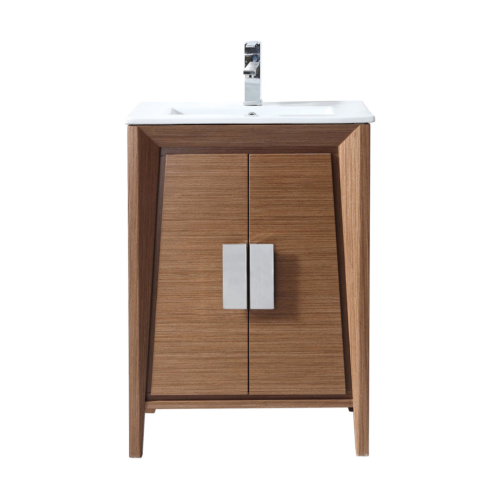 "24"" Larvotto Light Wheat Contemporary Modern Bathroom Vanity CL-22WV24-ZI"