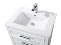 "24"" Tennant Brand Aruzza Small Slim Narrow White Bathroom Vanity 2822-V24W"
