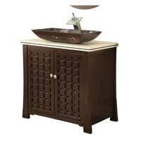 "30"" Bathroom Vanity, Modern Style Vessel Sink Giovanni Bathroom Sink Vanity # HF339"