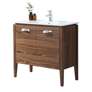"30"" Tennant Brand Colle American Walnut finish Bathroom Sink Vanity - CA-405NT30-ZI"