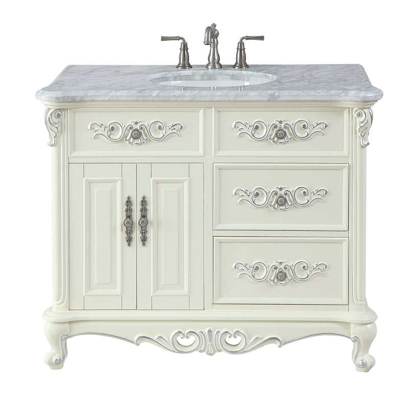64 Beckham Double Sink Antique Style White Bathroom Vanity With Mirrors