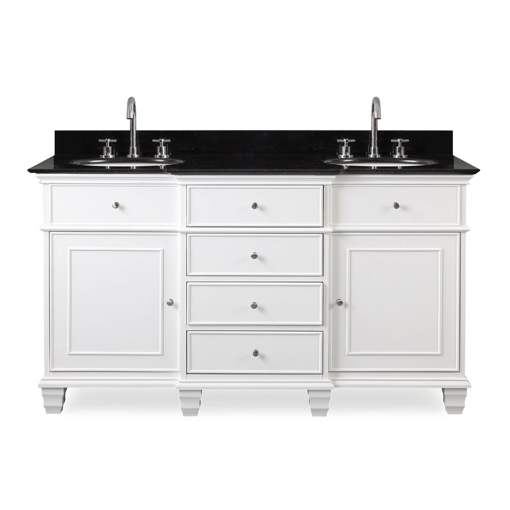 "60"" Comtempory Style Conduit Double Sink Bathroom Sink Vanity -  CF-64601GT"