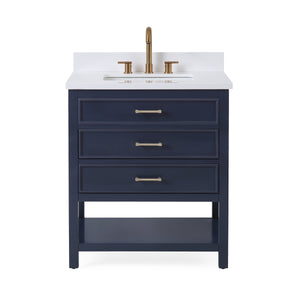 "30""  Tennant Brand Navy Blue Color Finish Single Sink Bathroom Vanity - Felton  SKU # 7206-NB30"