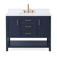 "42""  Tennant Brand Navy Blue Color Finish Single Sink Bathroom Vanity - Felton  SKU # 7220-NB42"
