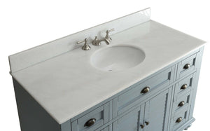 "49"" Vintage Blue Cottage Glennville Bathroom Sink Vanity - GD-28328BU-BS   (Blue) - Chans Furniture - 4"