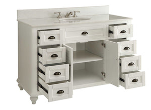 "49"" Cottage Style White Glennville Bathrrom Sink Vanity - model GD-28327W - Chans Furniture - 5"