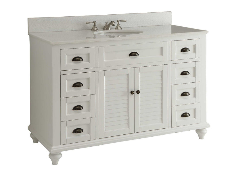 "49"" Cottage Style White Glennville Bathrrom Sink Vanity - model GD-28327W - Chans Furniture - 2"