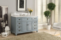 "49"" Vintage Blue Cottage Glennville Bathroom Sink Vanity - GD-28328BU-BS   (Blue) - Chans Furniture - 5"