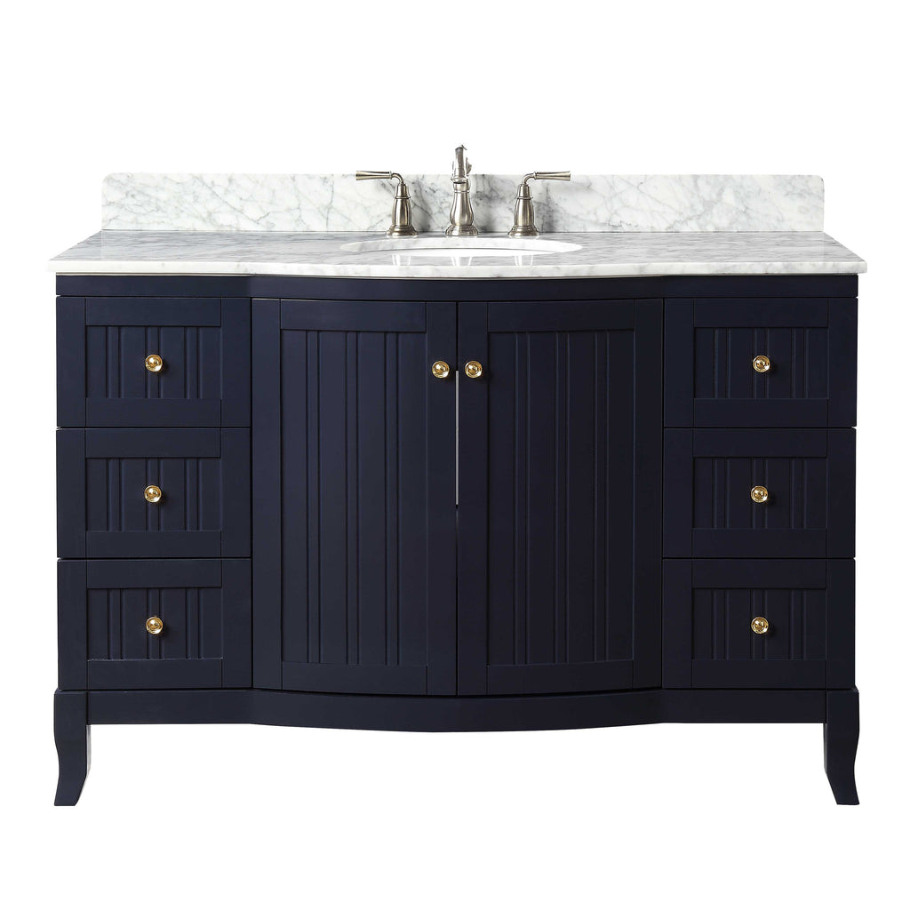 "49"" Algar Navy Blue Modern Contemporary Bathroom Vanity GD-9717NB"