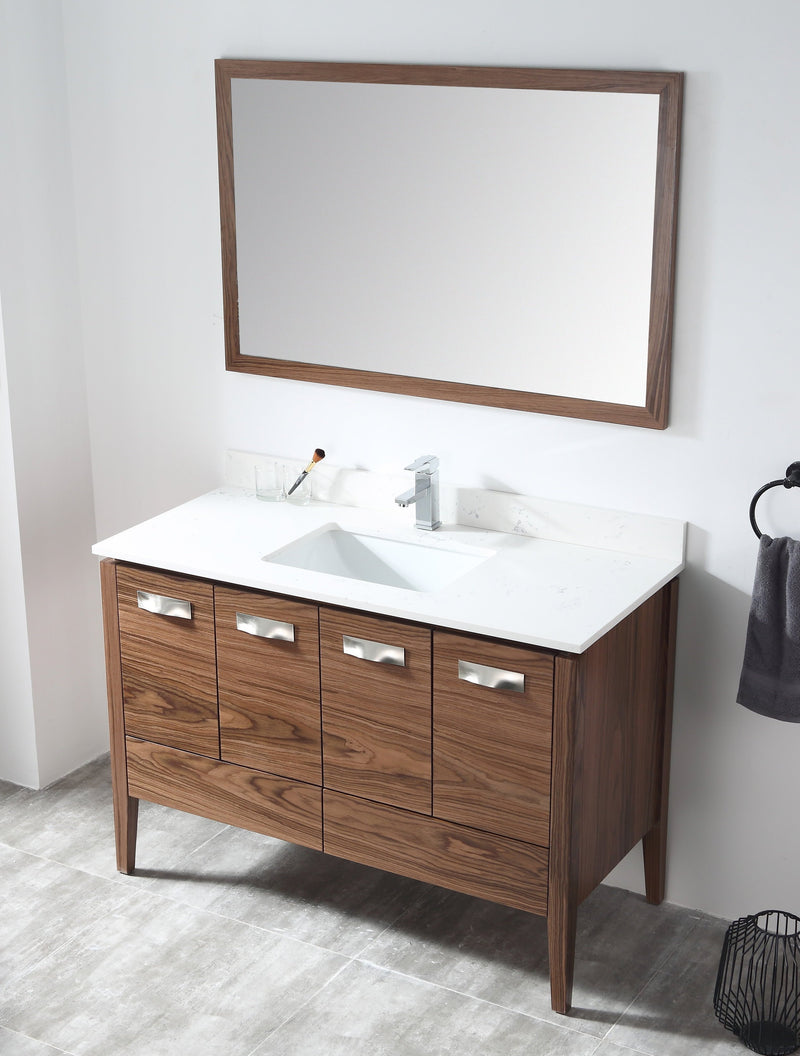 "48"" Tennant Brand Colle American Walnut finish Bathroom Sink Vanity - CA-405NT48-QT"