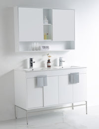 "47"" Tennant Brand Kuro Minimalistic White Double Bathroom Vanity CL-101WH-47QD"