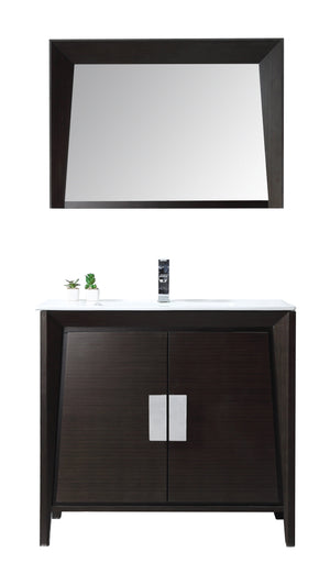 "36"" Larvotto Ebony Contemporary Bathroom Sink Vanity CL-22EB36-ZI"