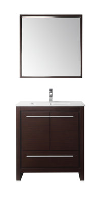 "30"" Tennant Brand Modern Style Vanity - Viara Bathroom Sink Vanity -  CL10-WE30-ZI  Espresso"