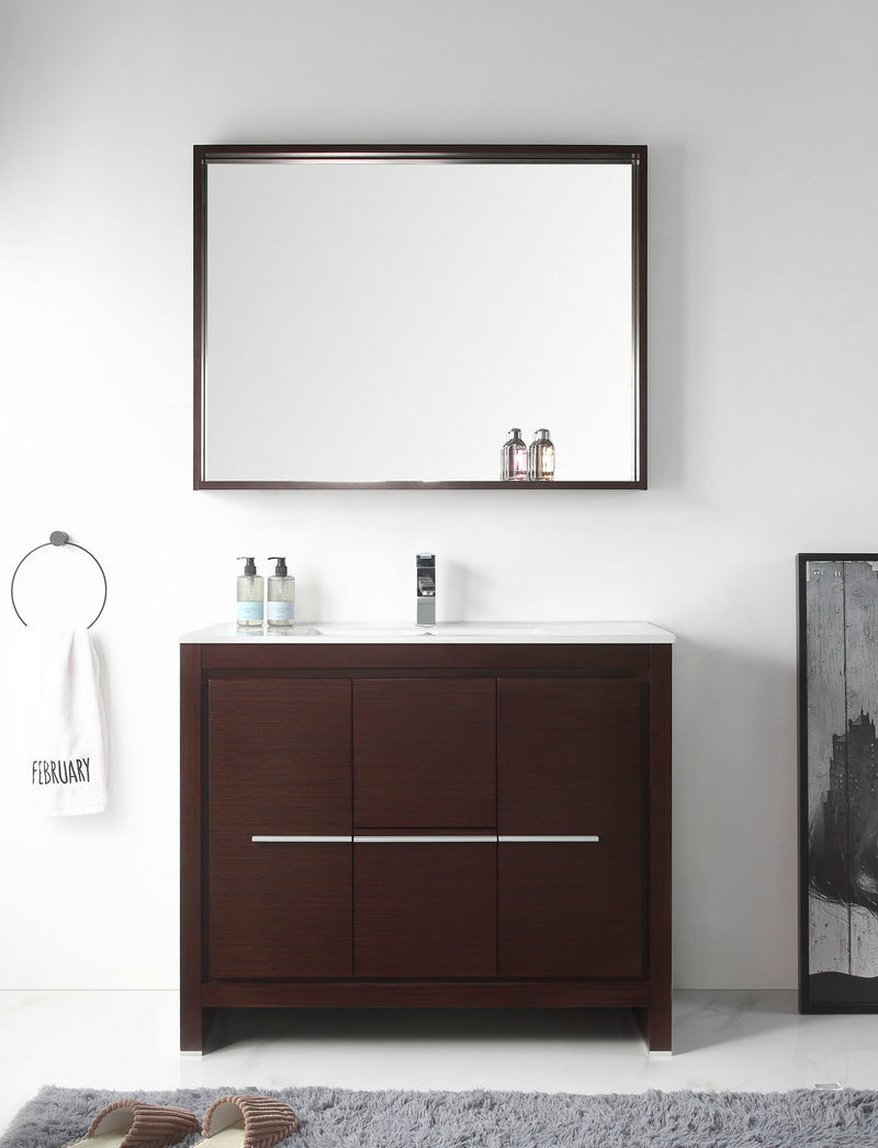 "40"" Tennant Brand Modern Style Vanity - Viara Bathroom Sink Vanity -  CL10-WE40-ZI  Espresso"