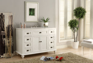 "49"" Cottage Style White Glennville Bathroom Sink Vanity - model GD-28327W"