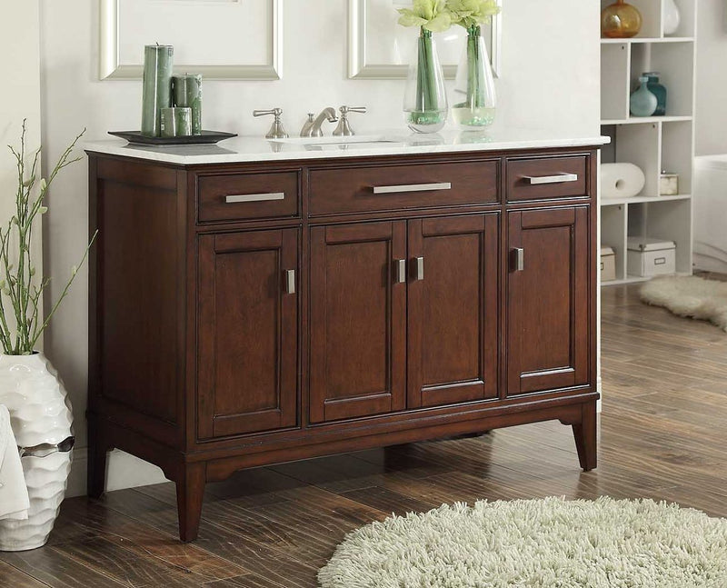 "49"" Benton Collection Theron Bathroom Sink Vanity # GD-6602-48 - Chans Furniture - 1"