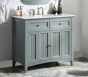 "42"" Thomasville Cottage Style Gray Bathroom Cabinet Sink Vanity GD-47539CK"