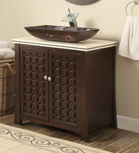 "30"" Vessel Sink Giovanni Bathroom Vanity model # HF339 - Chans Furniture - 1"