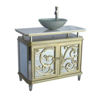 "38"" Benton Collection Idella Vessel Sink Bathroom Sink Vanity model # HFZ250 - Chans Furniture - 3"